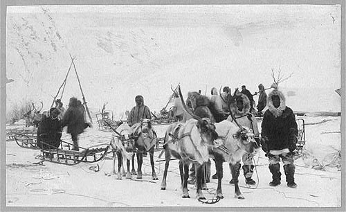 Reindeer team - Alaska 1922 Forms part of: Frank and Frances Carpenter collection (Library of Congress).